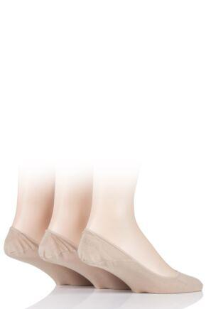 Mens 3 Pair Ralph Lauren No Show Cotton Trainer Liner Socks