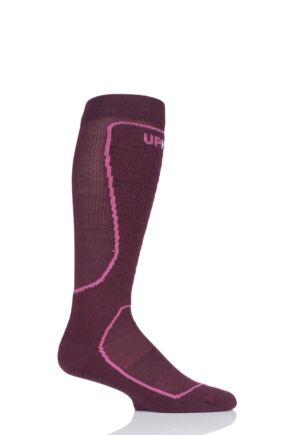 "Mens and Ladies 1 Pair UpHillSport ""Eno"" Alpine Ski 4 Layer M5 Socks Dark Red 3-5 Unisex"