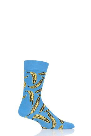 Mens and Ladies 1 Pair Happy Socks Andy Warhol Banana Pattern Socks