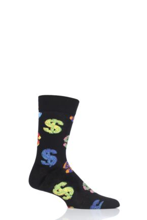 Mens and Ladies 1 Pair Happy Socks Andy Warhol Dollar Sign Socks