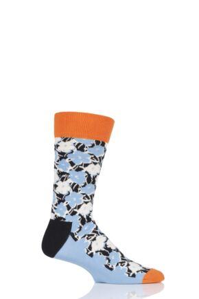Mens and Ladies 1 Pair Happy Socks Andy Warhol Flowers Socks