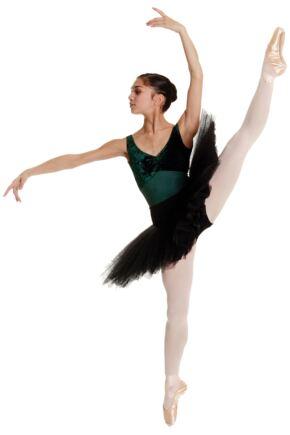 Girls 1 Pair Silky Ballet Foot Tights White 11-13