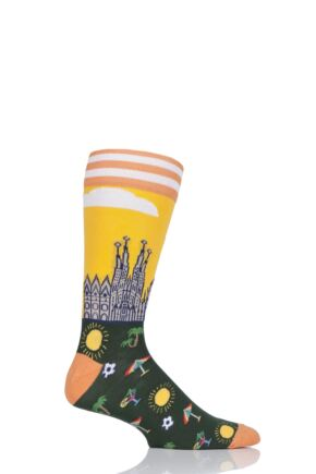 Mens 1 Pair Moustard Barcelona Cotton Socks