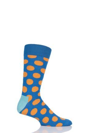 Mens and Ladies 1 Pair Happy Socks Big Dot Combed Cotton Socks
