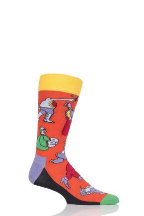 Mens and Ladies 1 Pair Happy Socks The Beatles Monsters Cotton Socks