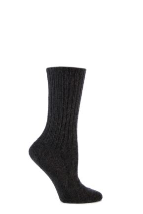 Mens and Ladies 1 Pair SOCKSHOP of London Mohair Ribbed Knit Comfort Cuff True Socks