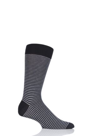 Mens 1 Pair Pantherella Farringdon Classic Stripe Cotton Lisle Socks