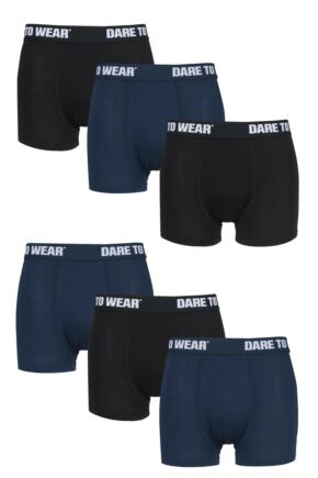 Mens 6 Pack SockShop Plain Bamboo Boxer Trunks