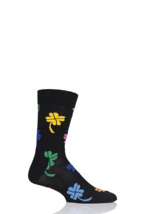 Mens and Ladies 1 Pair Happy Socks Big Luck Combed Cotton Socks