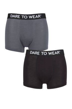 Mens 2 Pack Dare to Wear Bamboo Trunks