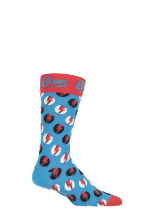 Mens 1 Pair Happy Socks David Bowie Big Bowie Dot Cotton Socks