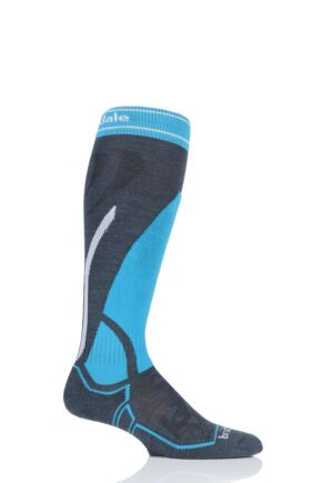 Mens 1 Pair Bridgedale Merino Performance Midweight Ski Socks
