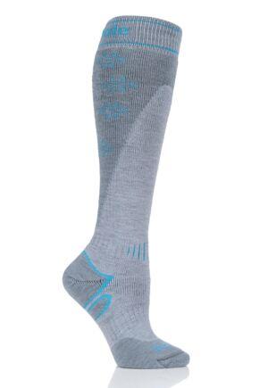 Womens 1 Pair Bridgedale Snowflake Merino Endurance Midweight Ski Socks