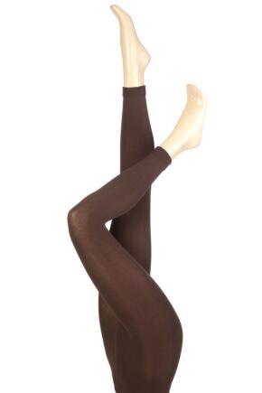 Ladies 1 Pair Heat Holders 0.52 Tog Leggings In Brown