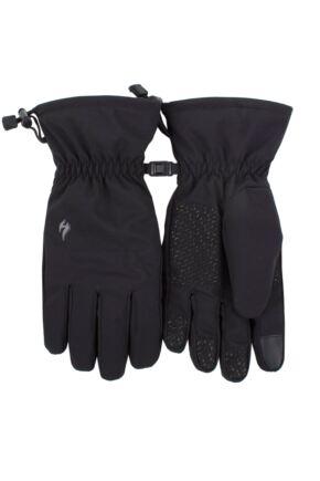 Mens 1 Pair SOCKSHOP Heat Holders Revelstoke Soft Shell Gloves