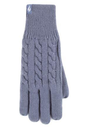 Ladies 1 Pair SOCKSHOP Heat Holders Willow Cable Gloves