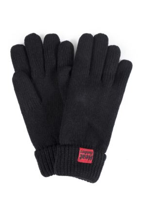 Mens 1 Pair SockShop Heat Holders Microluxe Gloves