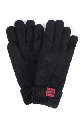 Mens 1 Pair SockShop Heat Holders Microluxe Gloves