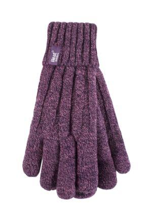 Ladies 1 Pair Heat Holders 3.2 Tog Heatweaver Yarn Gloves
