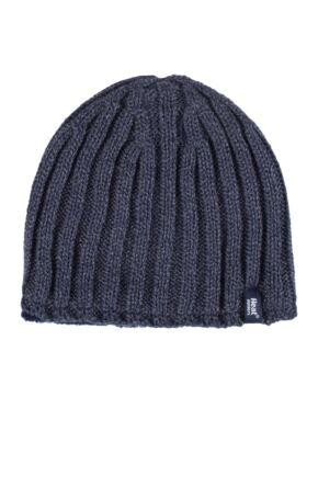 Mens 1 Pack Heat Holders 3.4 Tog Heatweaver Yarn Hat In Black
