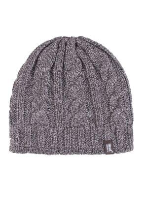 Ladies 1 Pack Heat Holders 3.4 Tog Heatweaver Yarn Hat Fawn