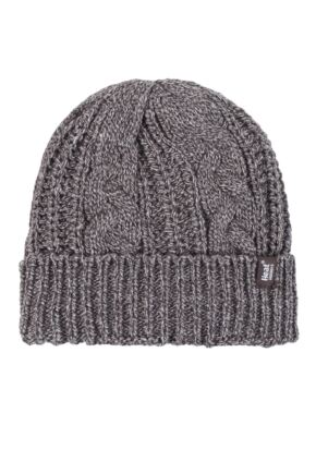 Ladies 1 Pack Heat Holders Heat Weaver Cable Knit Hat Fawn