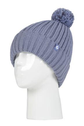 Ladies 1 Pack SOCKSHOP Heat Holders Arden Pom Pom Hat