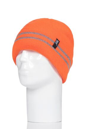 Heat Holders 1 Pack Workforce Hat Bright Orange One Size