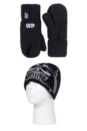 Kids 1 Pack SOCKSHOP Heat Holders Disney Star Wars Darth Vader Hat & Mittens