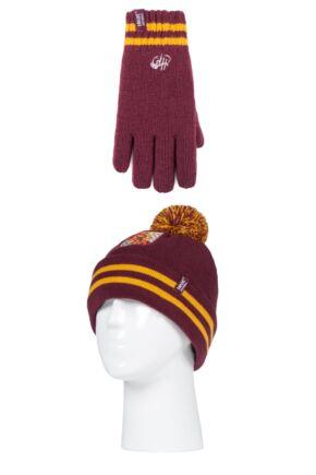 Kids 1 Pack SOCKSHOP Heat Holders Harry Potter Griffindor Hat & Glove Set