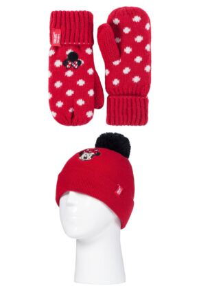 Kids 1 Pack SOCKSHOP Heat Holders Disney Minnie Mouse Hat & Mittens