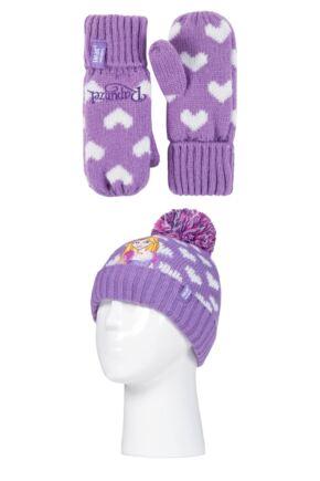 Kids 1 Pack SOCKSHOP Heat Holders Disney Rapunzel Hat & Mittens