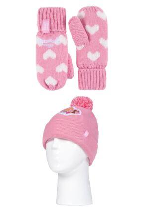 Kids 1 Pack SOCKSHOP Heat Holders Disney Princess Hat & Mittens
