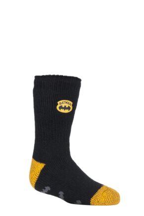 Kids 1 Pair SOCKSHOP Heat Holders DC Batman Slipper Socks