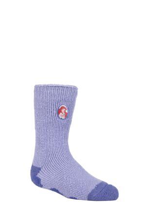 Kids 1 Pair SOCKSHOP Heat Holders Disney The Little Mermaid Slipper Socks