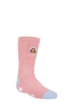 Kids 1 Pair SOCKSHOP Heat Holders Disney Moana Slipper Socks