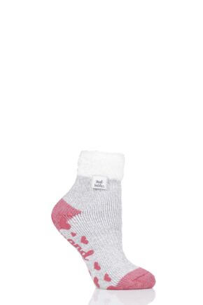 Ladies 1 Pair Heat Holders Lounge Feather Top Socks