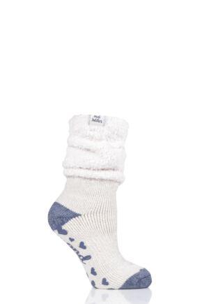 Ladies 1 Pair Heat Holders Lounge Cosy Slouch Socks Mauve 4-8 Ladies