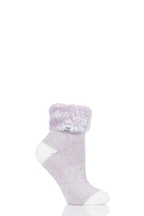 Ladies 1 Pair Heat Holders Sleep Turn Over Cuff Socks