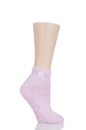 Ladies 1 Pair SOCKSHOP Heat Holders Ankle Slipper Socks Candy