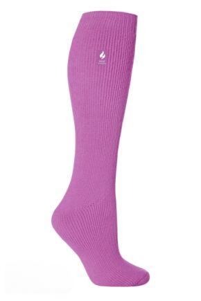 Ladies 1 Pair SockShop Long Heat Holders 2.3 TOG Thermal Socks Muted Pink 4-8 Ladies