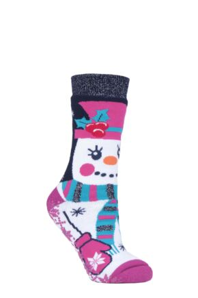 SOCKSHOP Heat Holders 1 Pair 3.1 TOG Double Layered Christmas Slipper Socks