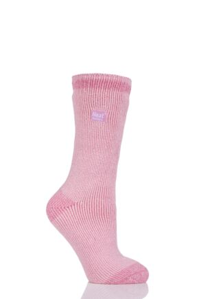 Ladies 1 Pair SockShop Heat Holders Twist Heel and Toe Socks