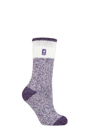 Ladies 1 Pair SOCKSHOP Heat Holders 2.3 TOG Patterned Thermal Socks