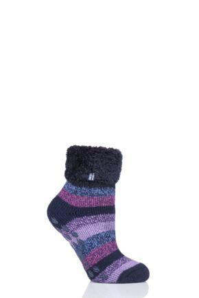Ladies 1 Pair Heat Holders Lilly Stripe Lounge Socks