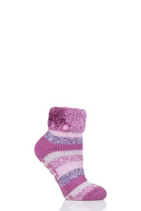Ladies 1 Pair Heat Holders Lilly Stripe Lounge Socks