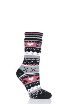 Ladies 1 Pair Heat Holders Soul Warming Socks Black 4-8 Ladies
