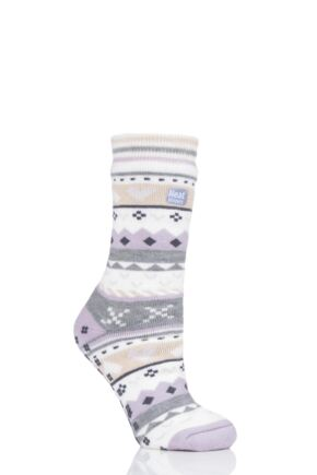Ladies 1 Pair Heat Holders Soul Warming Socks Lilac 4-8 Ladies