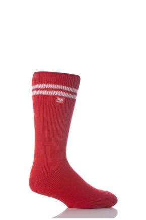 Mens 1 Pair Heat Holders For Football Fans Socks In Red and White