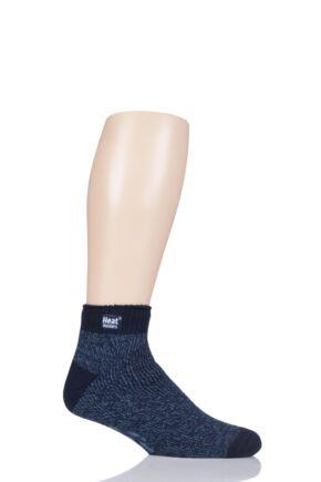 Mens 1 Pair SockShop Slipper Heat Holders Thermal Ankle Slipper Socks